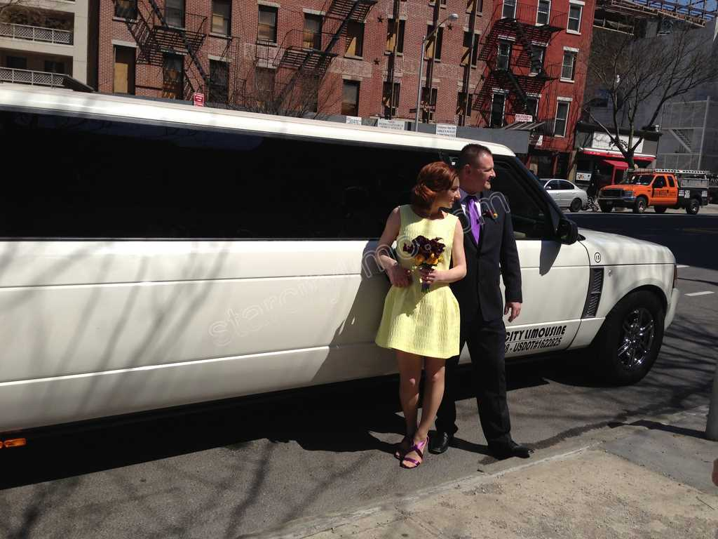 Range Rover Limo Wedding Dumbo River Cafe