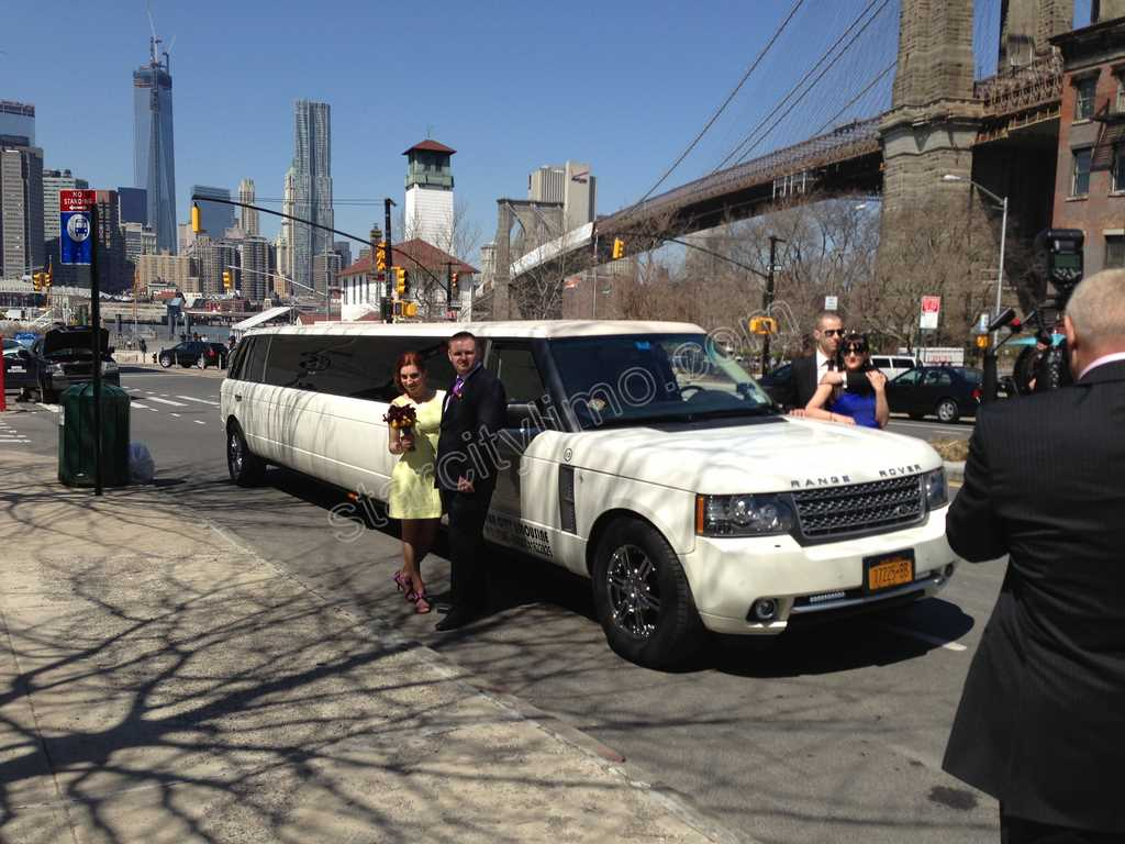 Range Rover Limousine Wedding Freedom Tower and  Brooklyn Bridge