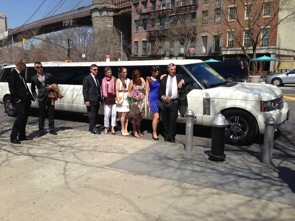 Range Rover Limousine for Wedding Brooklyn Bridge River Cafe
