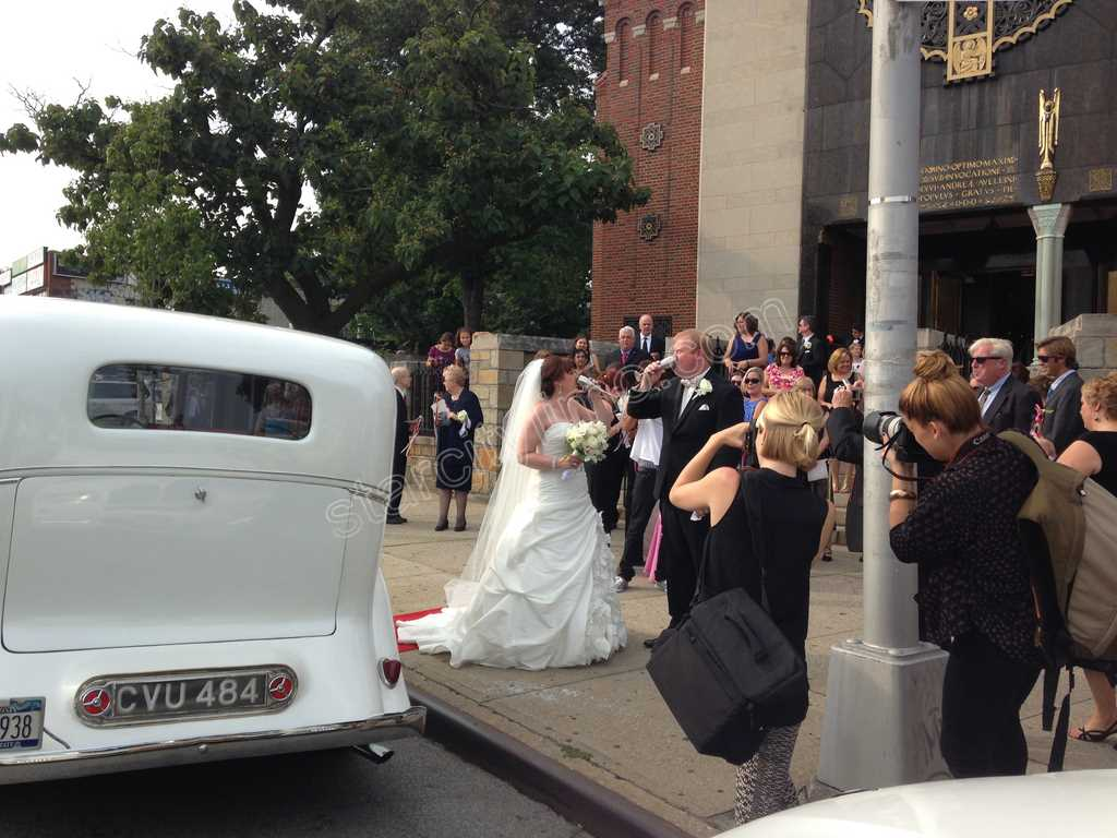 Rolls Royce Wedding Toast by Church in New York